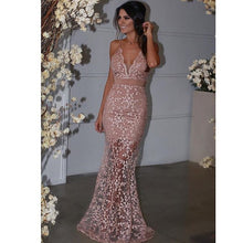 Sheer Lace Mermaid Evening Dresses Long