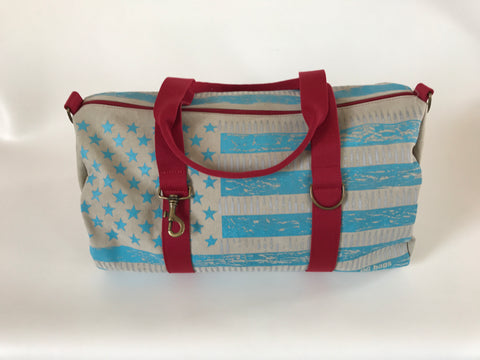 QG BAG LIGHT GREY/RED
