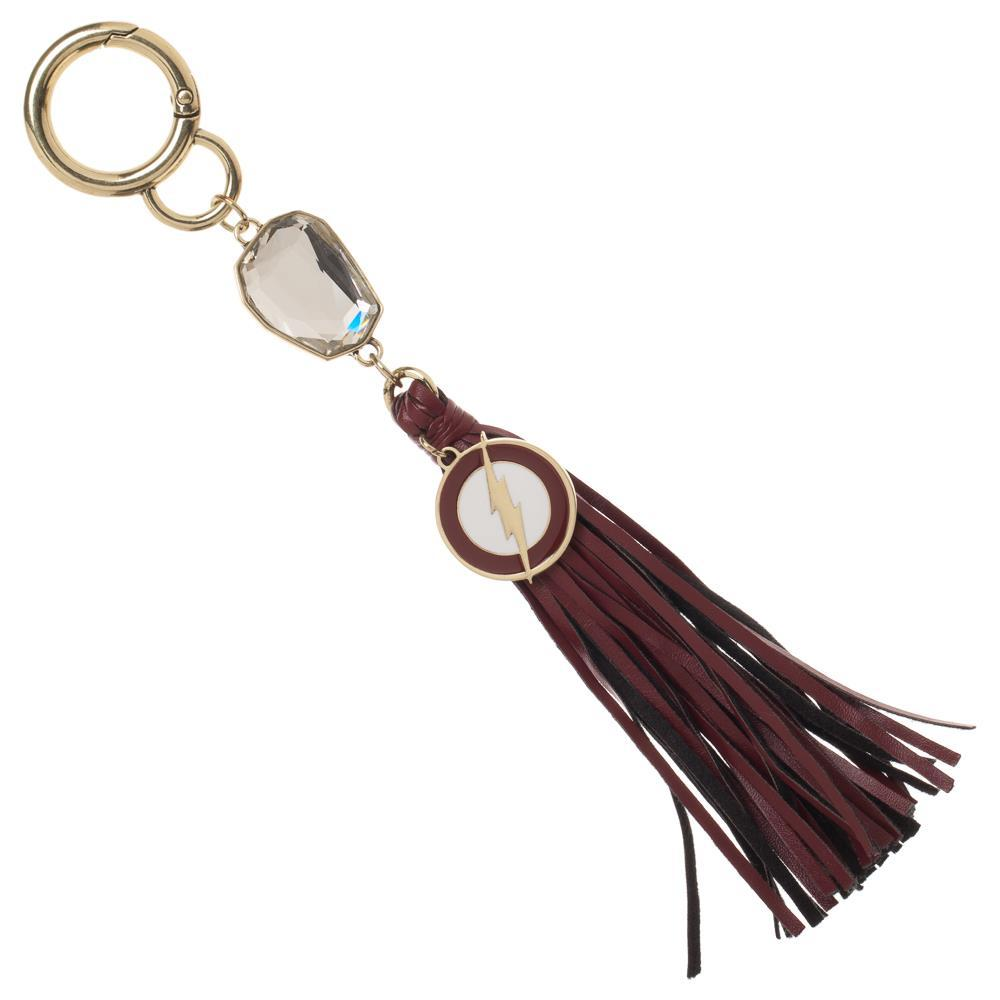 Flash Keychain Crystal Tassle Flash Accessory DC Comic Gift - Tassle DC Keychain Flash Gift