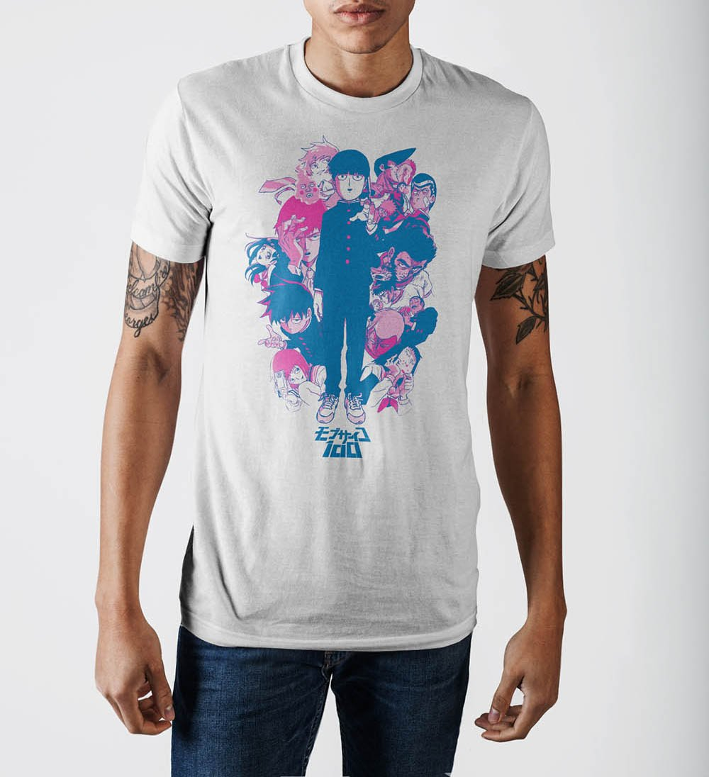 Mob Psycho Group White T-Shirt
