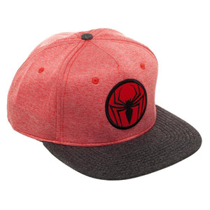 Spiderman Two Tone Cationic Red and Black Snapback