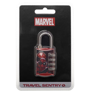 Marvel Comics Deadpool Graphic Design TSA Approved Travel Combination Luggage Lock for Suitcase Baggage