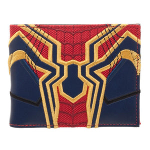 Spiderman Faux Leather Wallet, Avengers Infinity War Costume Style, Bi Fold Character Wallet