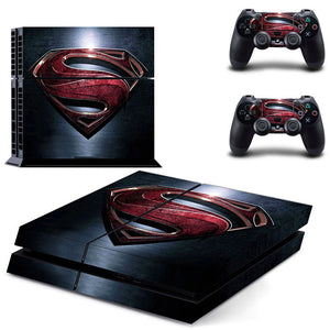 PlayStation 4 (PS4) Skin - Superman Logo All-Over Decal