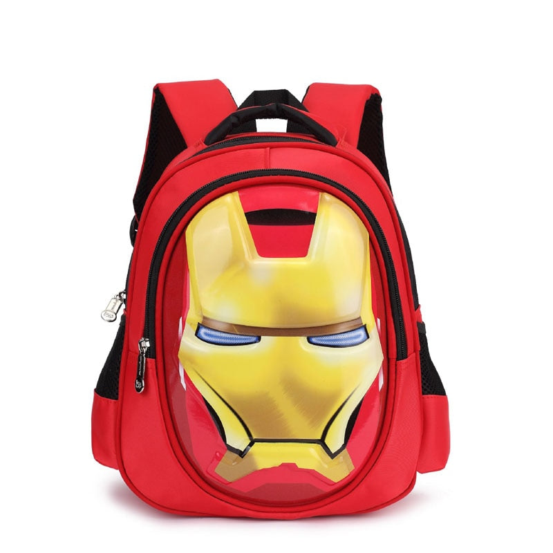 3D Iron Man Kids Backpack