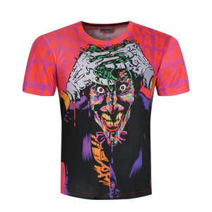 Crazy Joker 3D All-Over Printed T-Shirt
