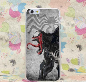 Venom Marvel Scary Transparent Cover Case