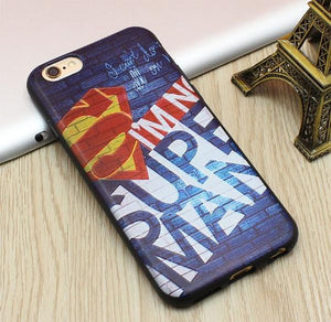 Superman Blue 3D Emboss Soft TPU Luxury Silicone Phone Case
