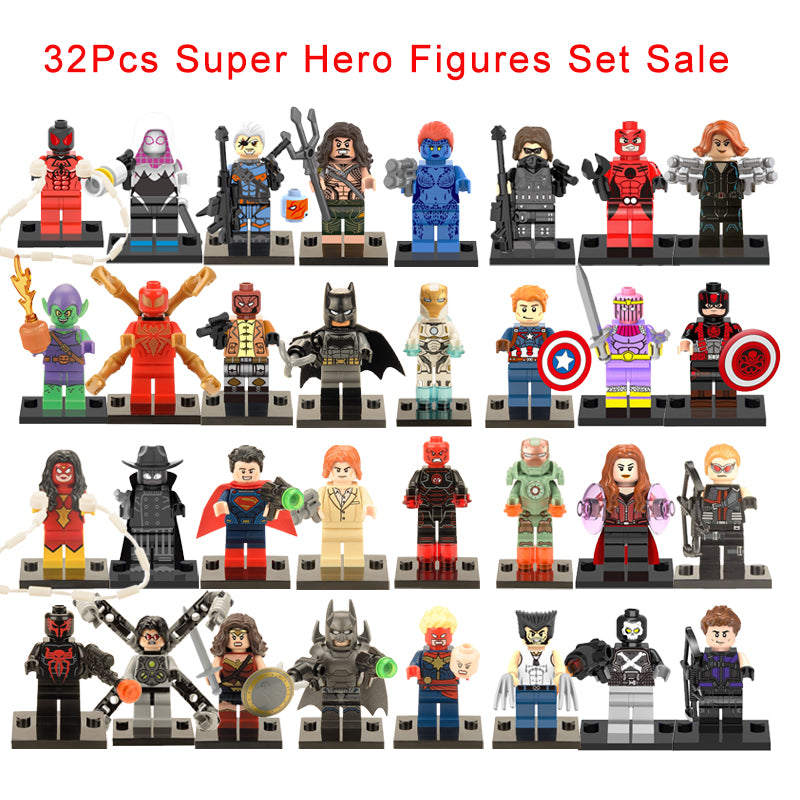 32 Pieces/Set Superheroes Lego Mini Action Figure Toys