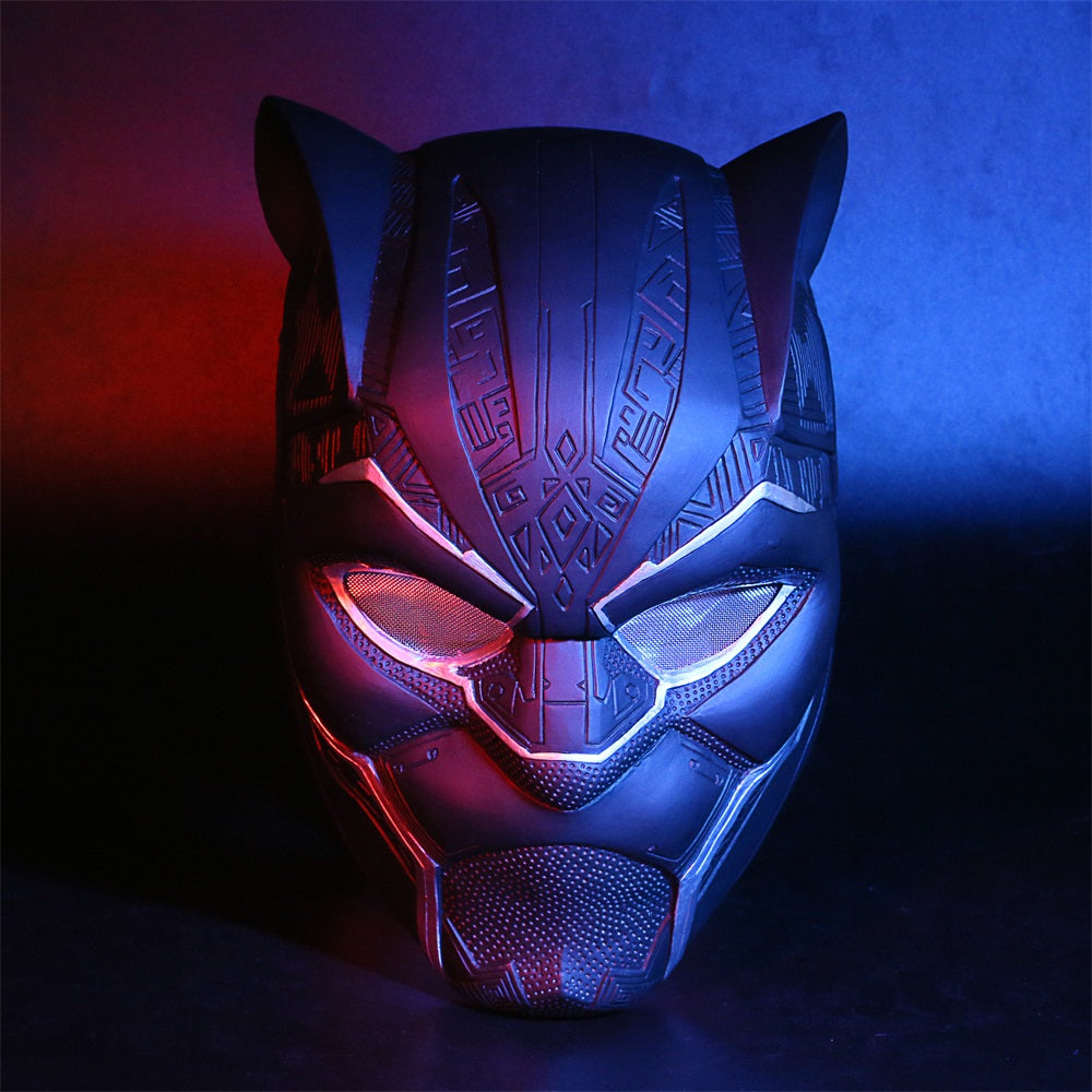 New Black Panther Helmet With Led Light