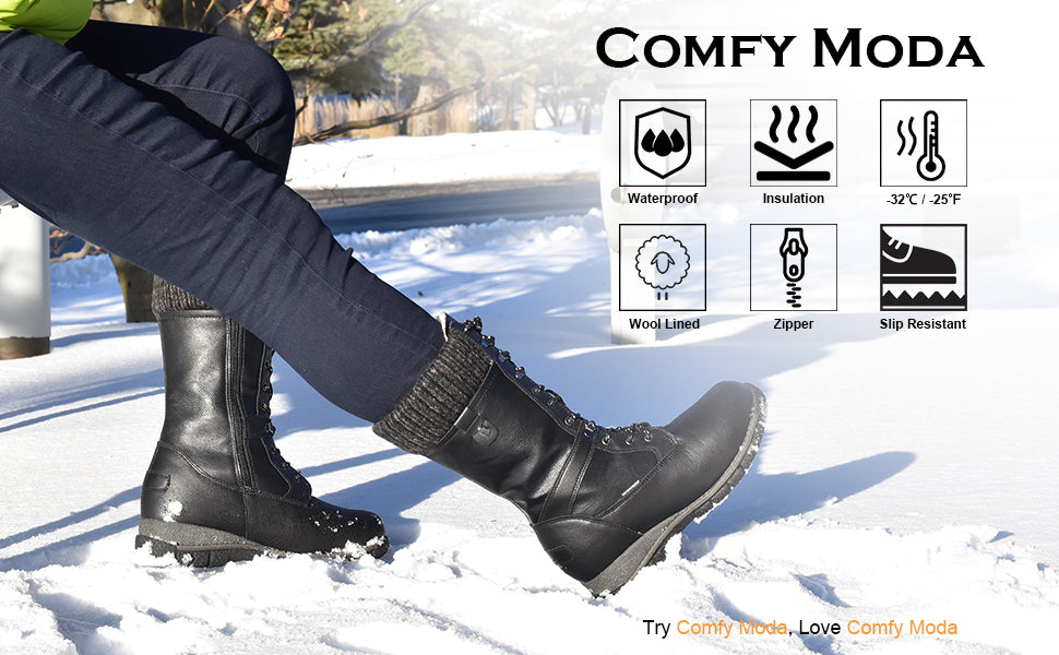 comfy moda women waterproof winter boots storm