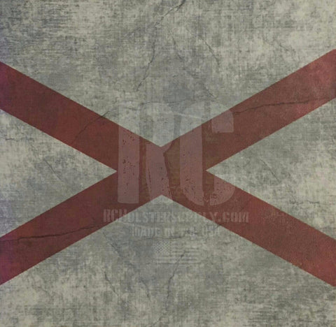 Alabama State Flag Custom Print.