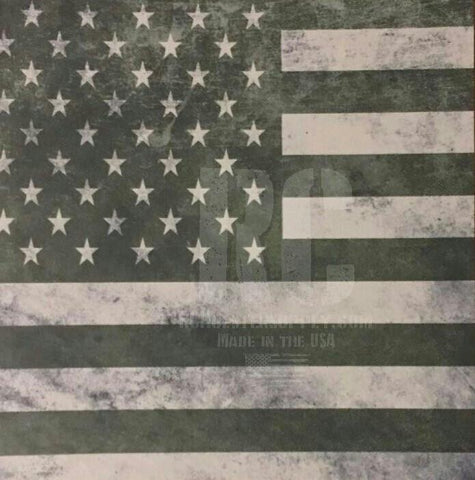 Army Green American Flag Custom Print