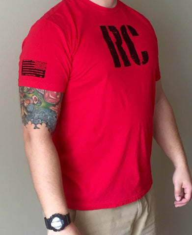 Men's T-Shirt Red & Black