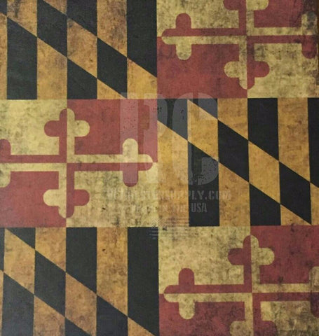 Maryland State Flag Custom Print.
