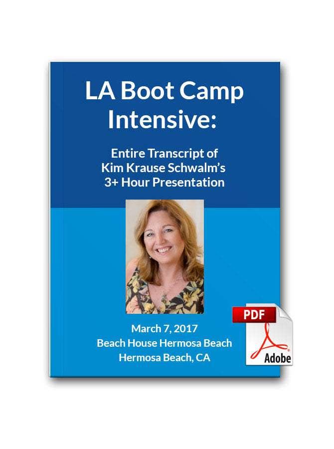 Virtual LA Boot Camp Intensive Downloadable Transcript PDF ONLY