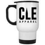 CLE Apparel White Travel Mug