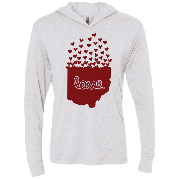Love Ohio Unisex Triblend Hooded T-Shirt