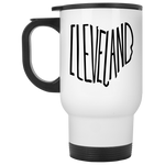 Ohio Cleveland White Travel Mug
