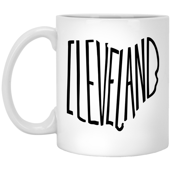 Ohio Cleveland 11 oz. White Mug