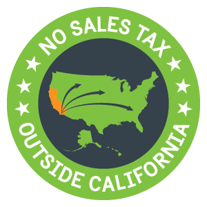 No sales tax on orders shipped outside the state of California