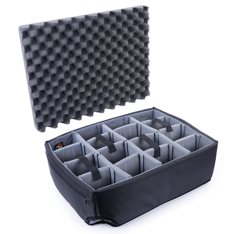Pelican 1560 Microfiber Padded Dividers by CVPKG, Gray - Pelican Color Case