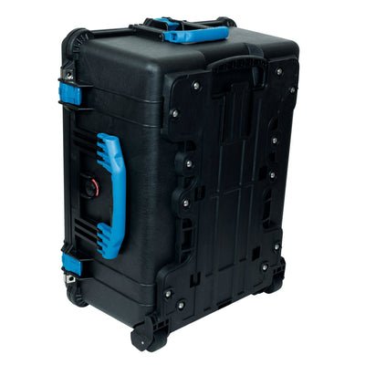 Pelican 1610 Case, Black with Blue Handles and Latches