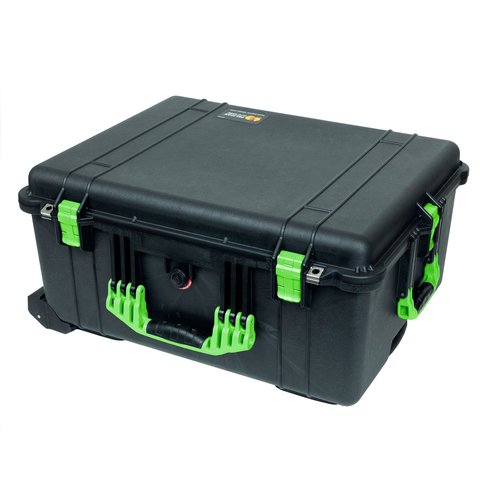 Pelican 1620 Case, Black with Lime Green Handles & Latches
