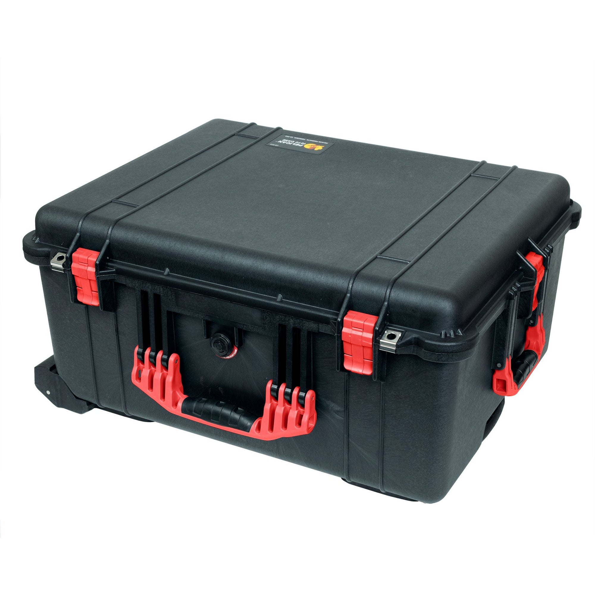 Pelican 1610 Case, Black with Red Handles and Latches