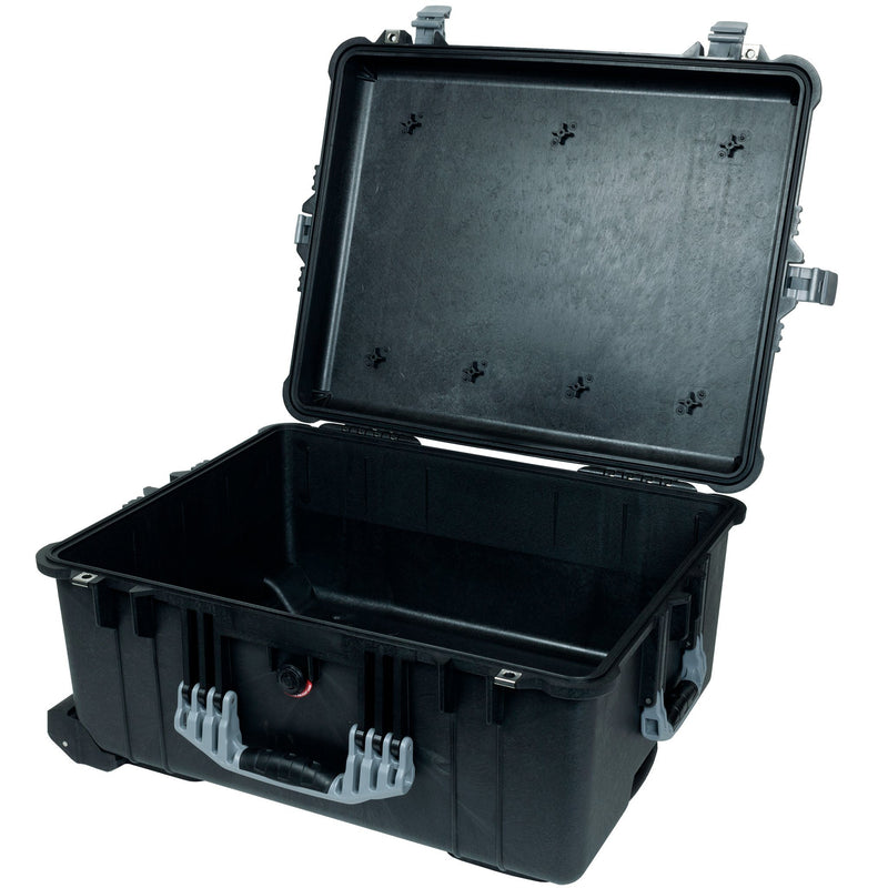 Pelican 1610 Case, Black with Silver Handles and Latches