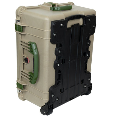 Pelican 1610 Case, Desert Tan with OD Green Handles and Latches