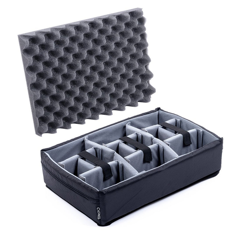 Pelican 1500 Microfiber Padded Dividers by CVPKG, Gray - Pelican Color Case
