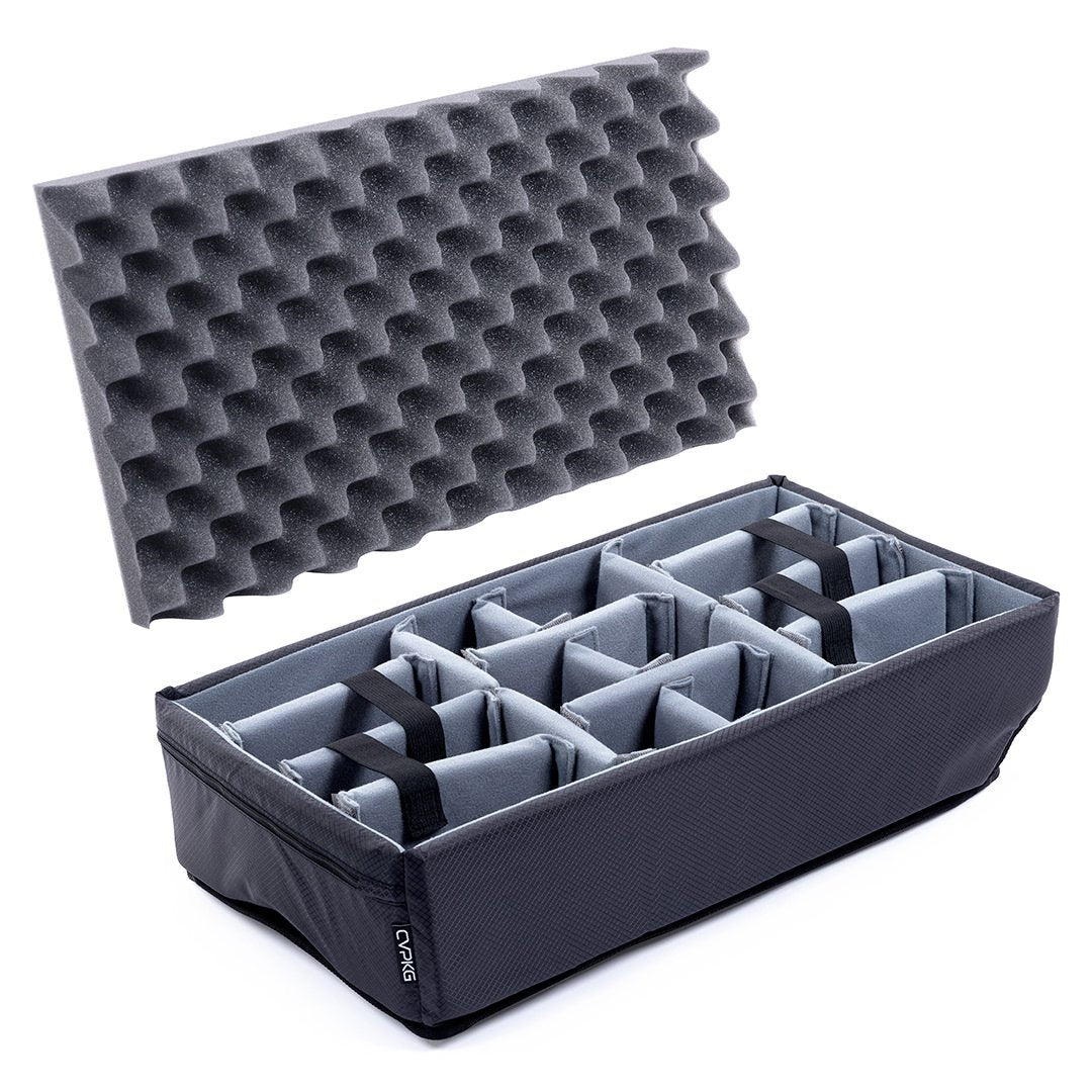 Pelican 1510 Microfiber Padded Dividers by CVPKG, Gray - Pelican Color Case