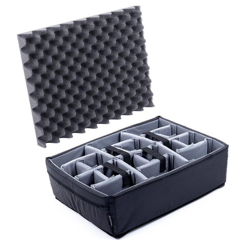 Pelican 1550 Microfiber Padded Dividers by CVPKG, Gray - Pelican Color Case