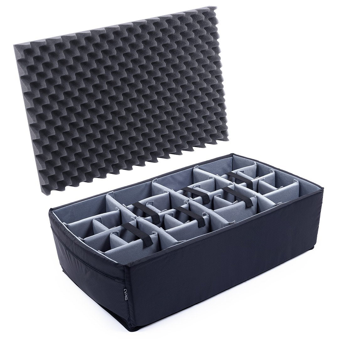 Pelican 1650 Microfiber Padded Dividers by CVPKG, Gray - Pelican Color Case