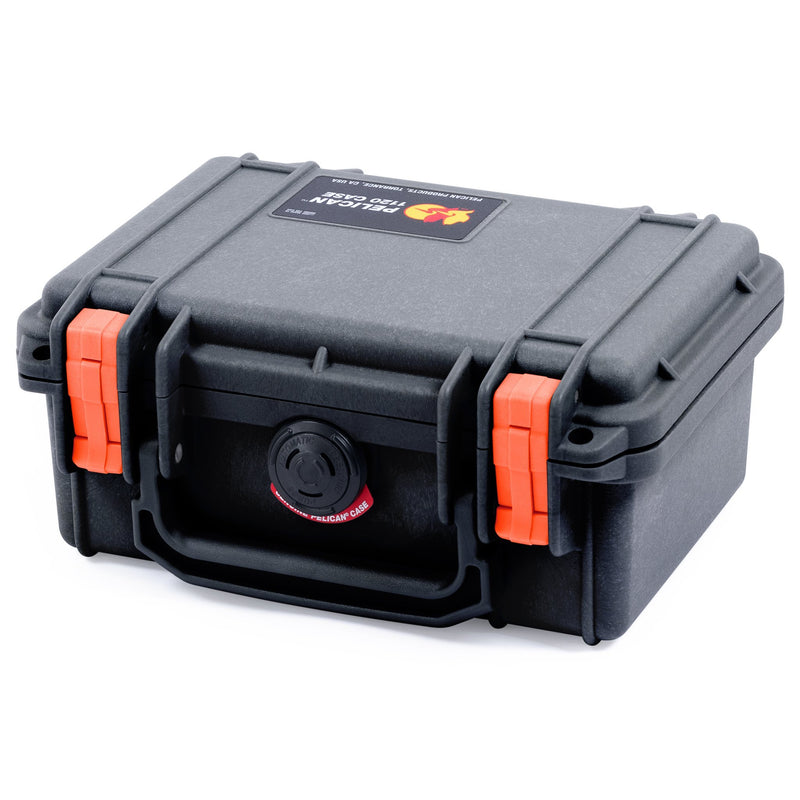 Pelican 1120 Case, Black with Orange Latches - Pelican Color Case