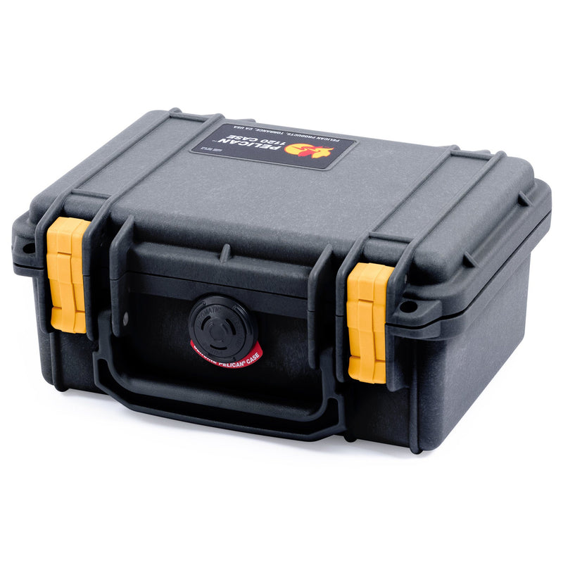 Pelican 1120 Case, Black with Yellow Latches - Pelican Color Case