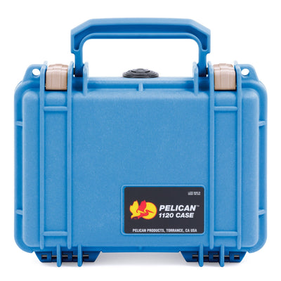 Pelican 1120 Case, Blue with Desert Tan Latches - Pelican Color Case