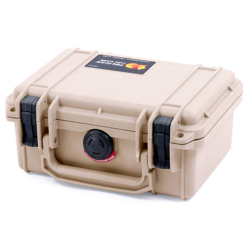 Pelican 1120 Case, Desert Tan with Black Latches - Pelican Color Case
