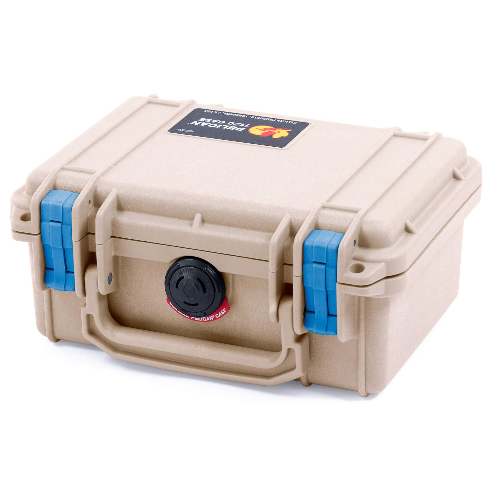 Pelican 1120 Case, Desert Tan with Blue Latches