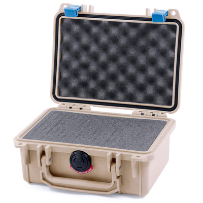 Pelican 1120 Case, Desert Tan with Blue Latches - Pelican Color Case