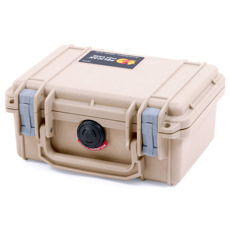 Pelican 1120 Case, Desert Tan with Silver Latches - Pelican Color Case