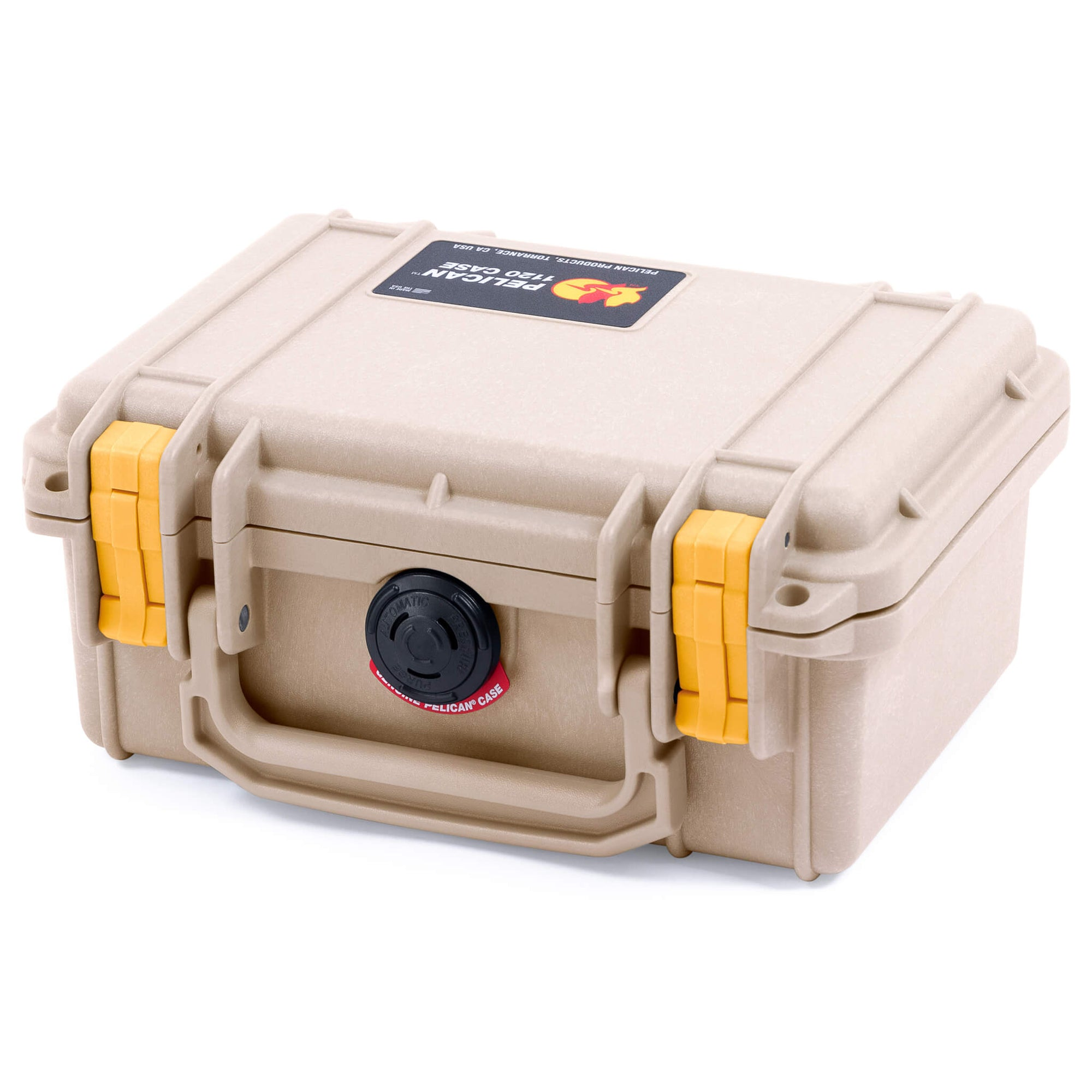 Pelican 1120 Case, Desert Tan with Yellow Latches