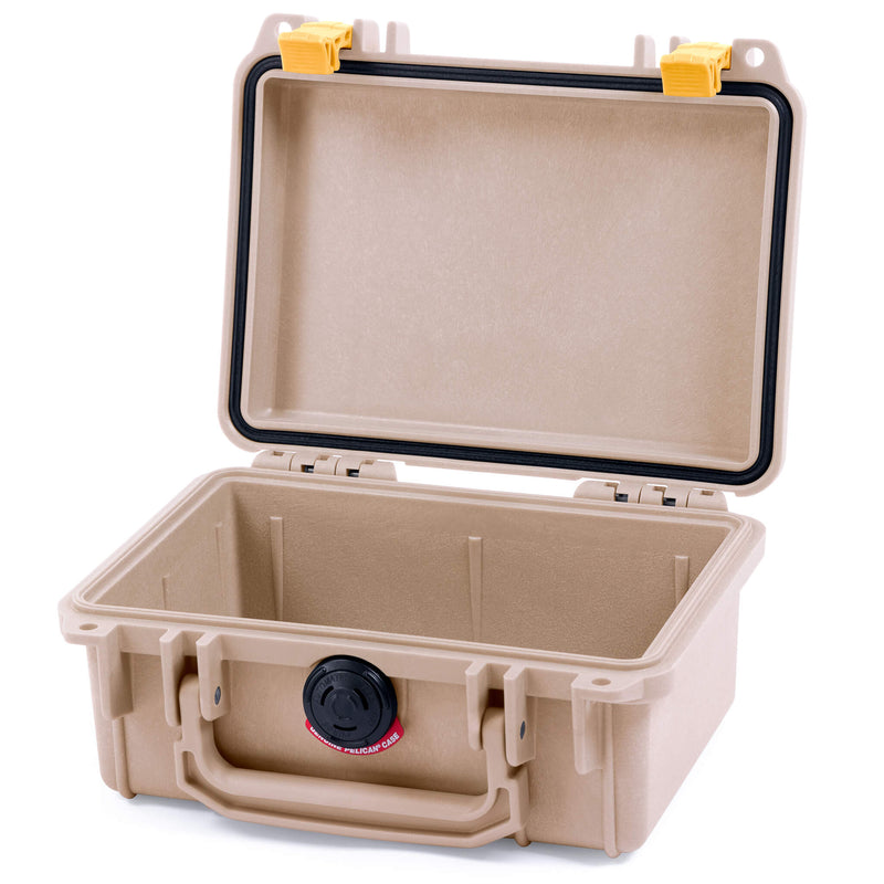 Pelican 1120 Case, Desert Tan with Yellow Latches - Pelican Color Case