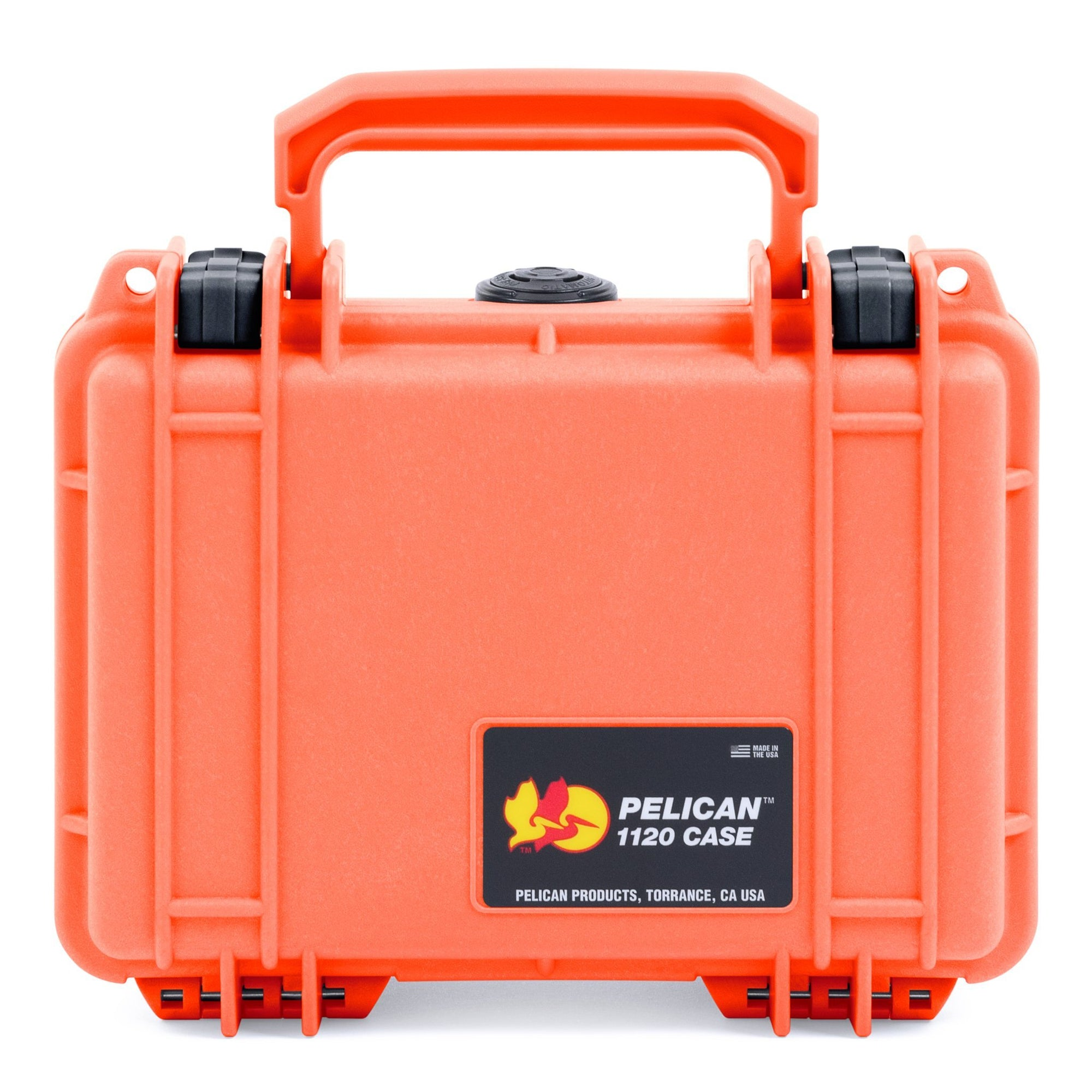 Pelican 1120 Case, Orange with Black Latches - Pelican Color Case