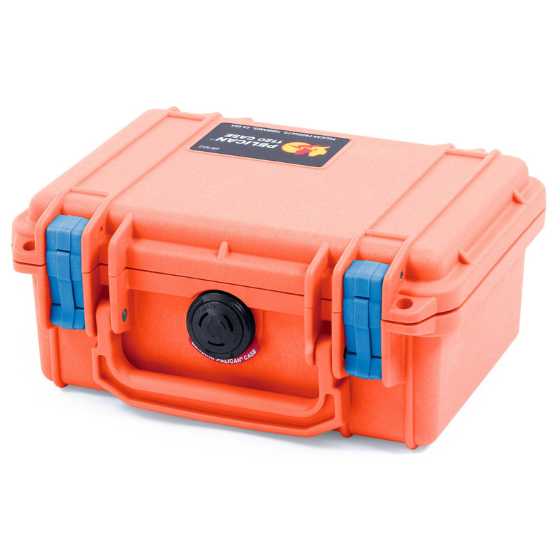 Pelican 1120 Case, Orange with Blue Latches - Pelican Color Case
