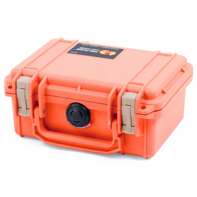 Pelican 1120 Case, Orange with Desert Tan Latches - Pelican Color Case