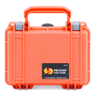 Pelican 1120 Case, Orange with Silver Latches - Pelican Color Case