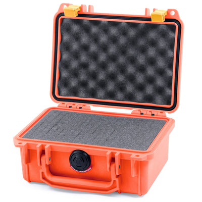 Pelican 1120 Case, Orange with Yellow Latches - Pelican Color Case