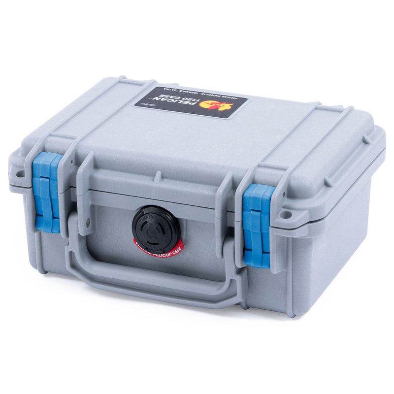 Pelican 1120 Case, Silver with Blue Latches - Pelican Color Case